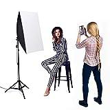 1600W Softbox Dauerlicht Fotostudio Set,Heorryn Softbox Studioleuchten Kit mit 2m verstellbarem Ständer 5500K LED Birne und Tragetasche für Fotostudio-Porträts Produktfotografie Videoaufnahme*