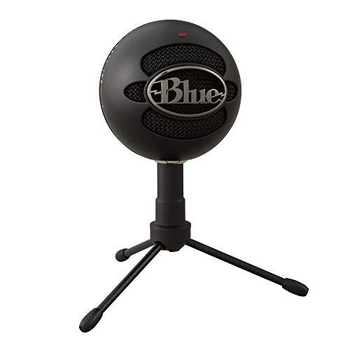 Blue Microphones Snowball iCE Plug 'n Play USB-Mikrofon für Aufnahme, Podcasting, Broadcasting, Twitch Game-Streaming, Voiceover, YouTube Videos auf PC und Mac - Schwarz