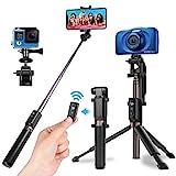 Power Theory Bluetooth Selfie Stick mit Handy und Kamera Stativ (80cm) - Selfiestick mit Fernauslöser, kompatibel mit iPhone, Samsung, Huawei, OnePlus, Digitalkameras GoPros und mehr - Selfi Tripod*