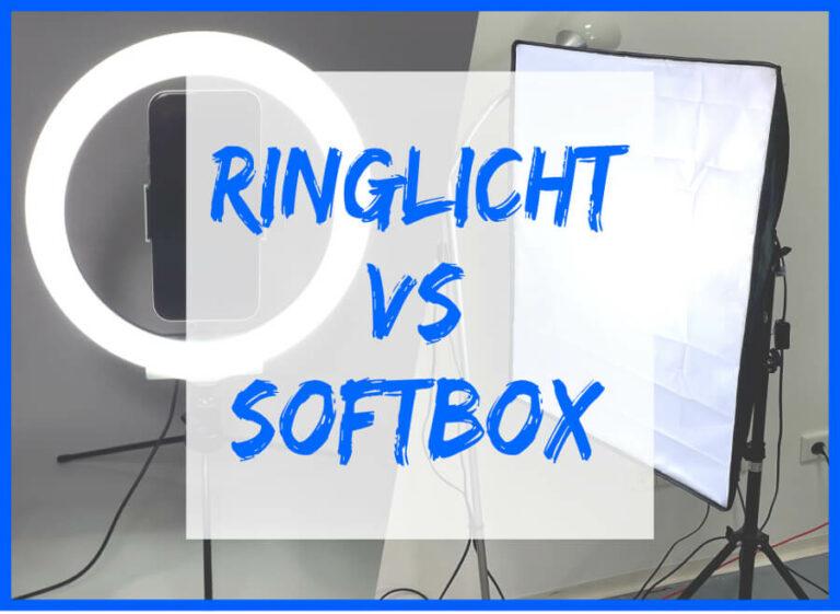 Ringlicht versus Softbox als Symbolbild