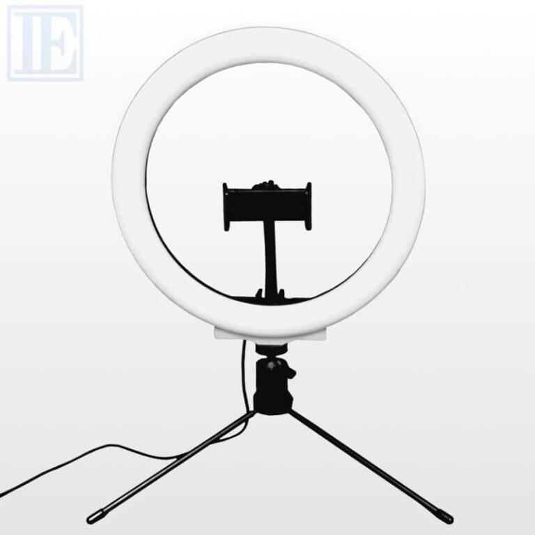 Tischringlicht mit Smartphone-Halterung