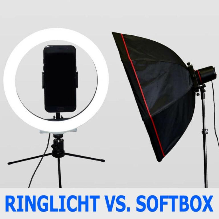 ringlicht gegen softbox