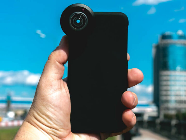 selfie mit externer smartphone linse