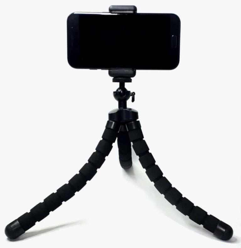 tripod stativ mit smartphone in halterung