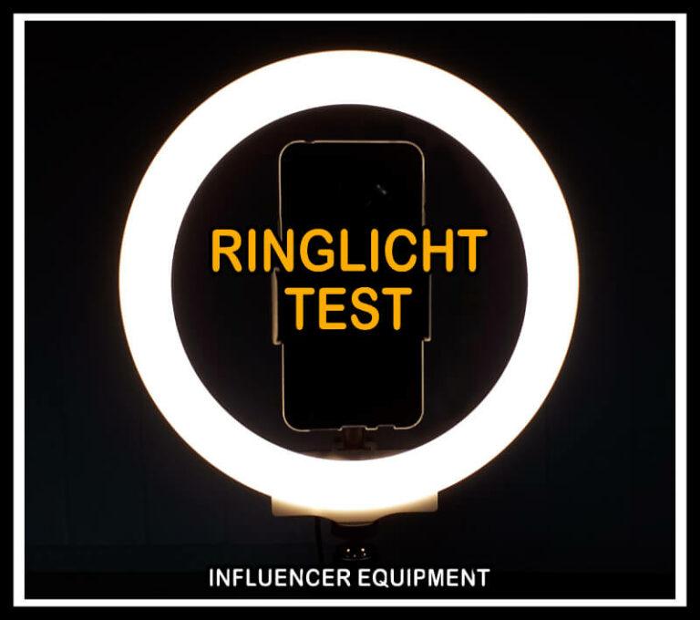 ringlicht test influencer equipment